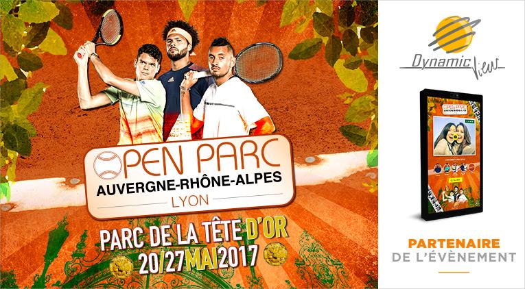 Open Parc un tournoi de tennis en plein parc de la tête d'or