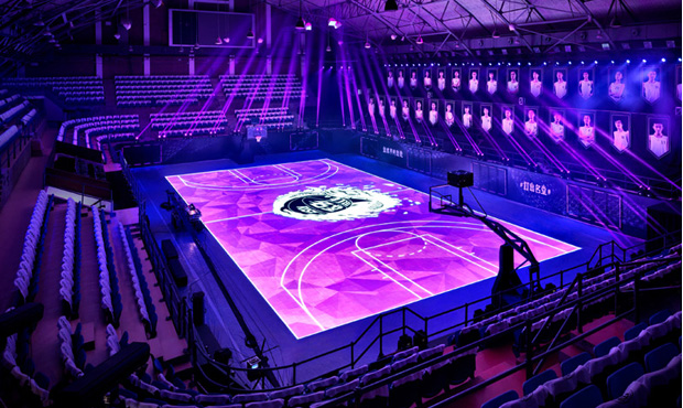 the house of mamba nike signe un terrain de basket interactif