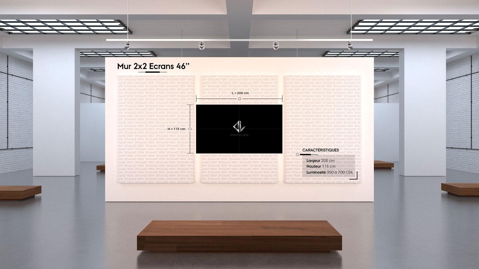 01 Mur 2x2 Ecrans 46''