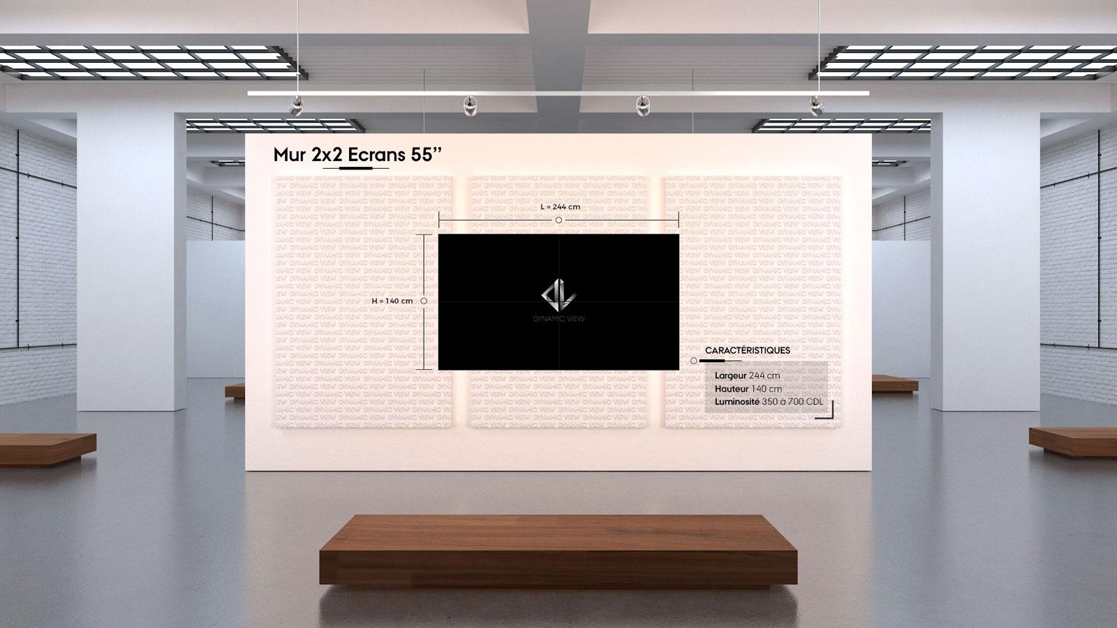 02 Mur 2x2 Ecrans 55''