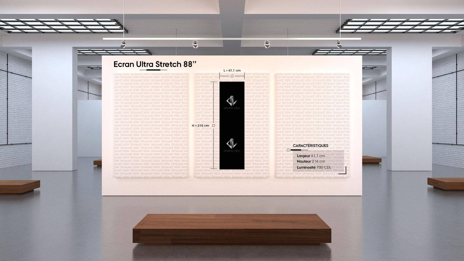 13 Ecran Ultra Stretch 88''