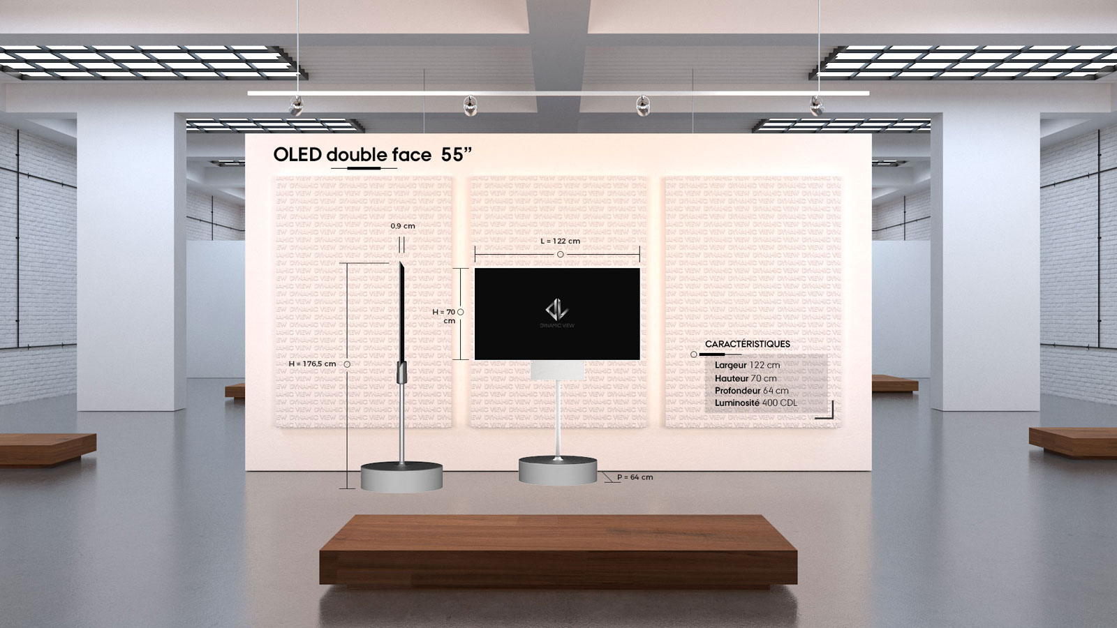 16 OLED 55'' double face