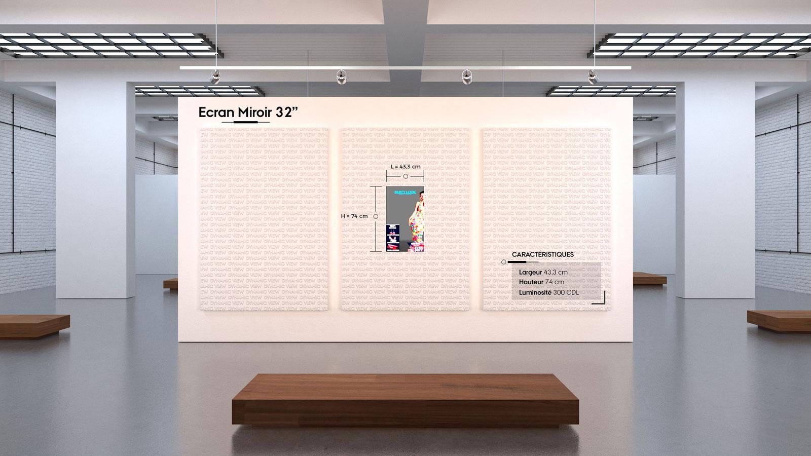 17 Ecran Miroir 32''