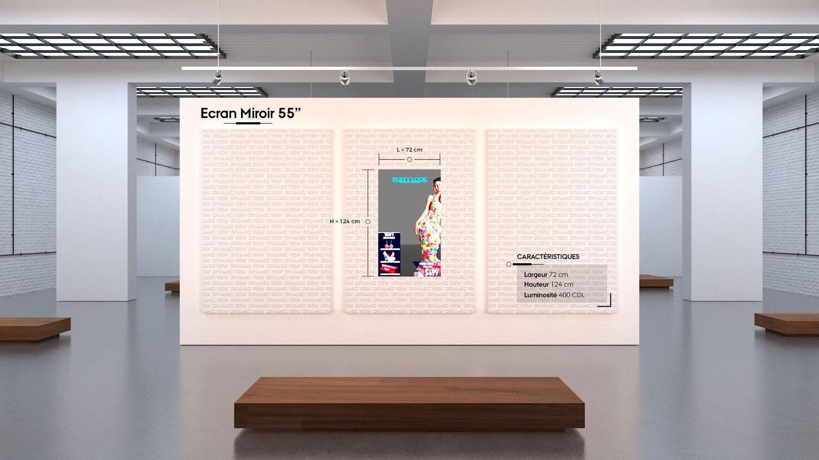 18 Ecran Miroir 55''