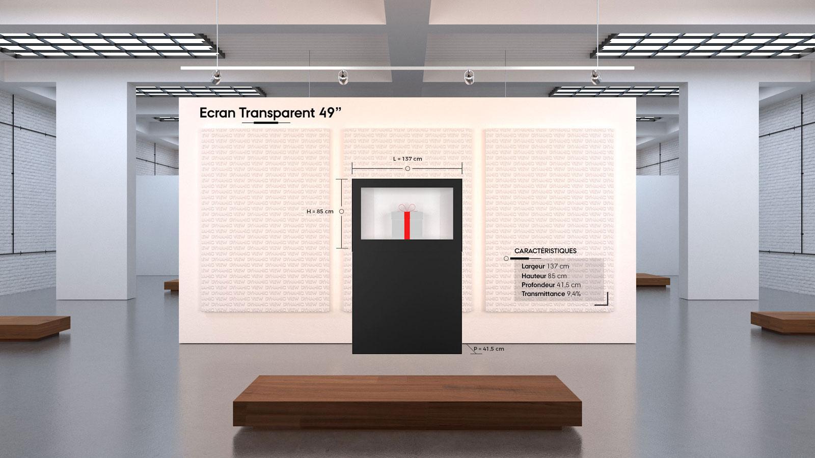20 Ecran Transparent 49''