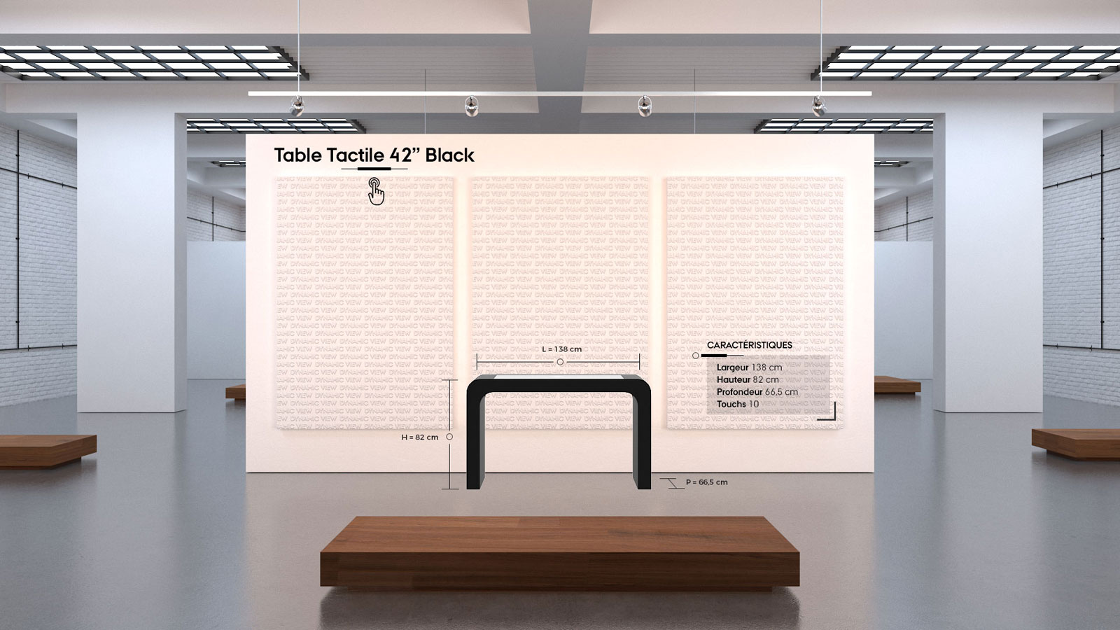 33 Table Tactile 42'' Black