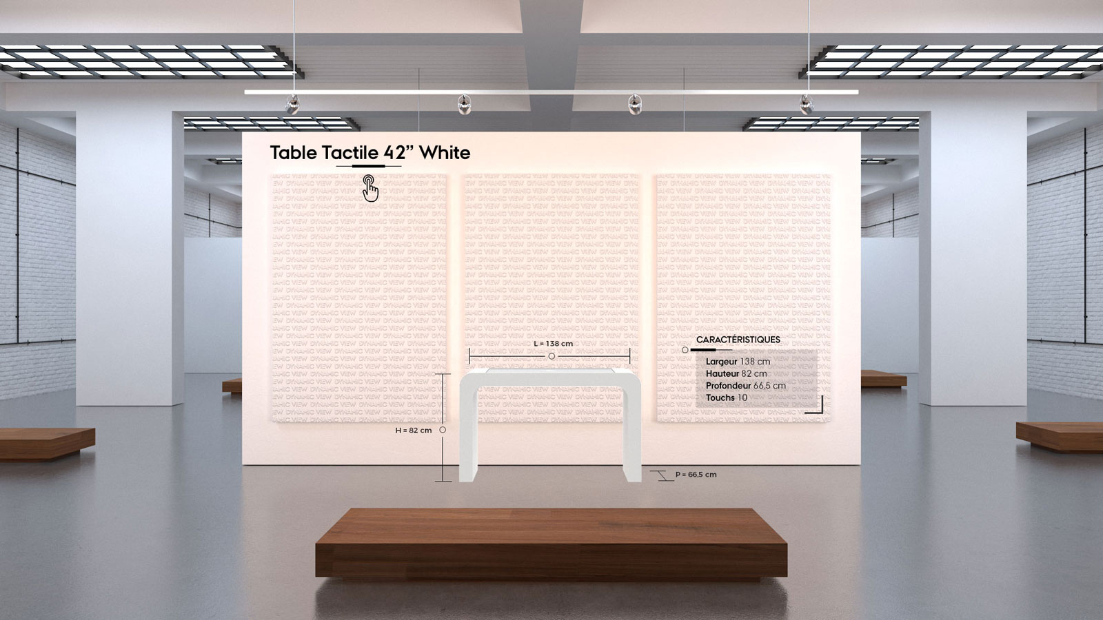 34 Table Tactile 42'' White