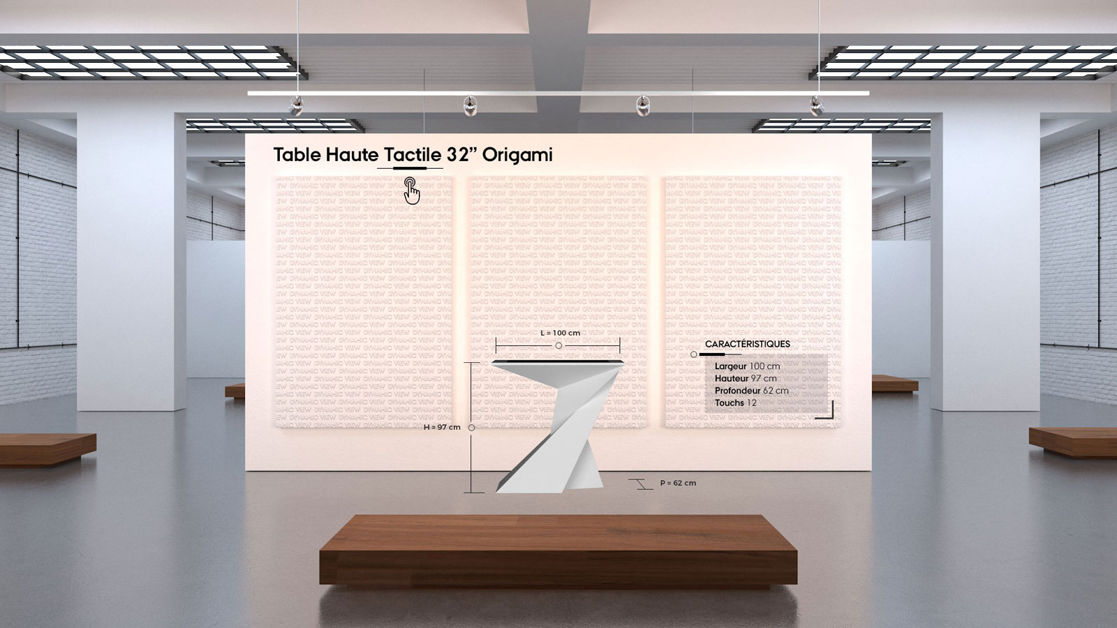35 Table Haute Tactile 32'' Origami