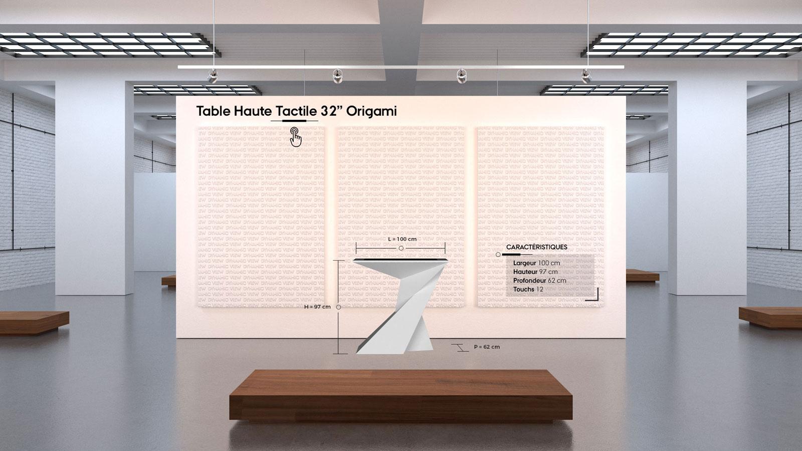 35 Table Haute Tactile 32'' Origami