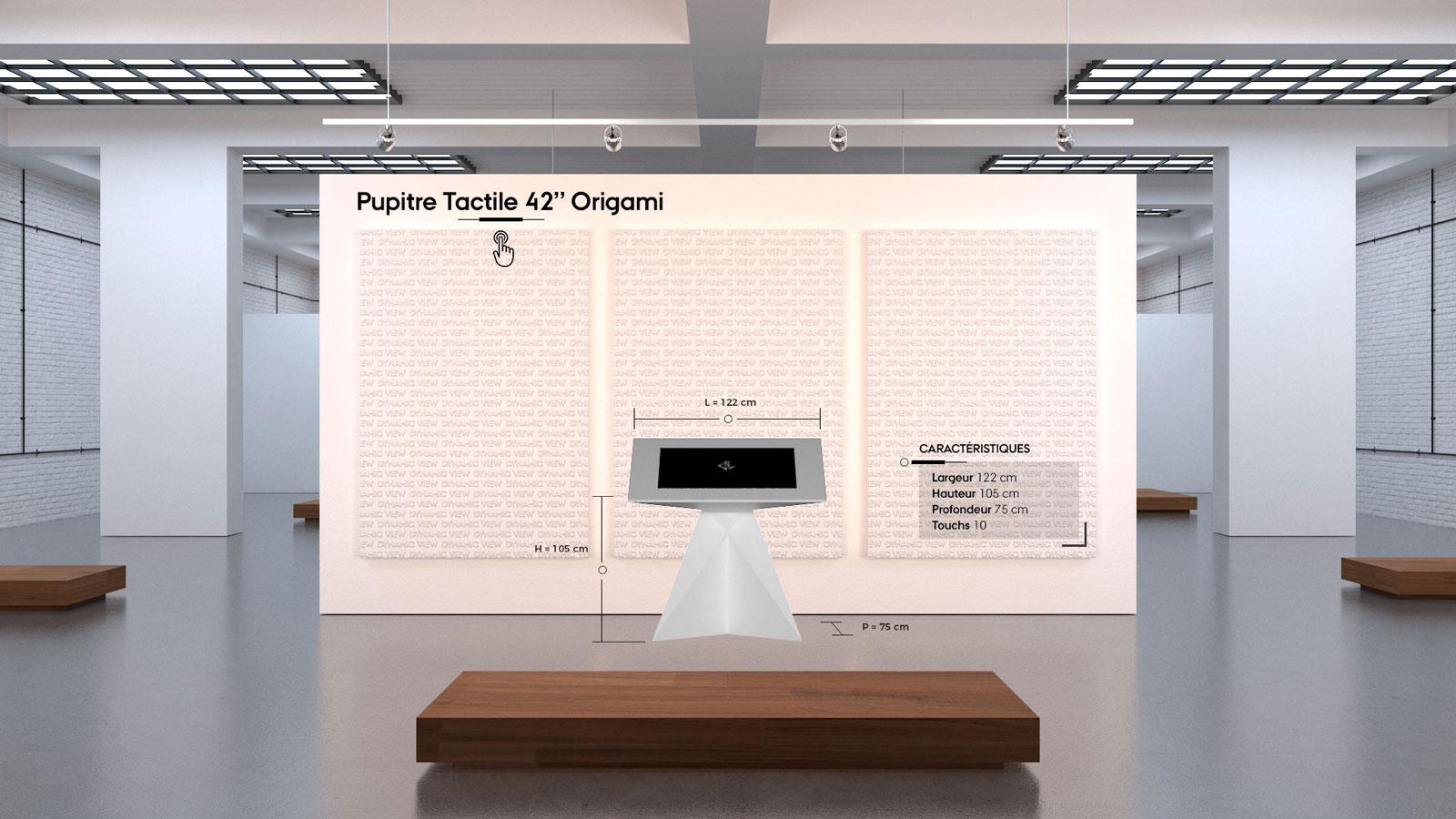 36 Pupitre Tactile 42'' Origami
