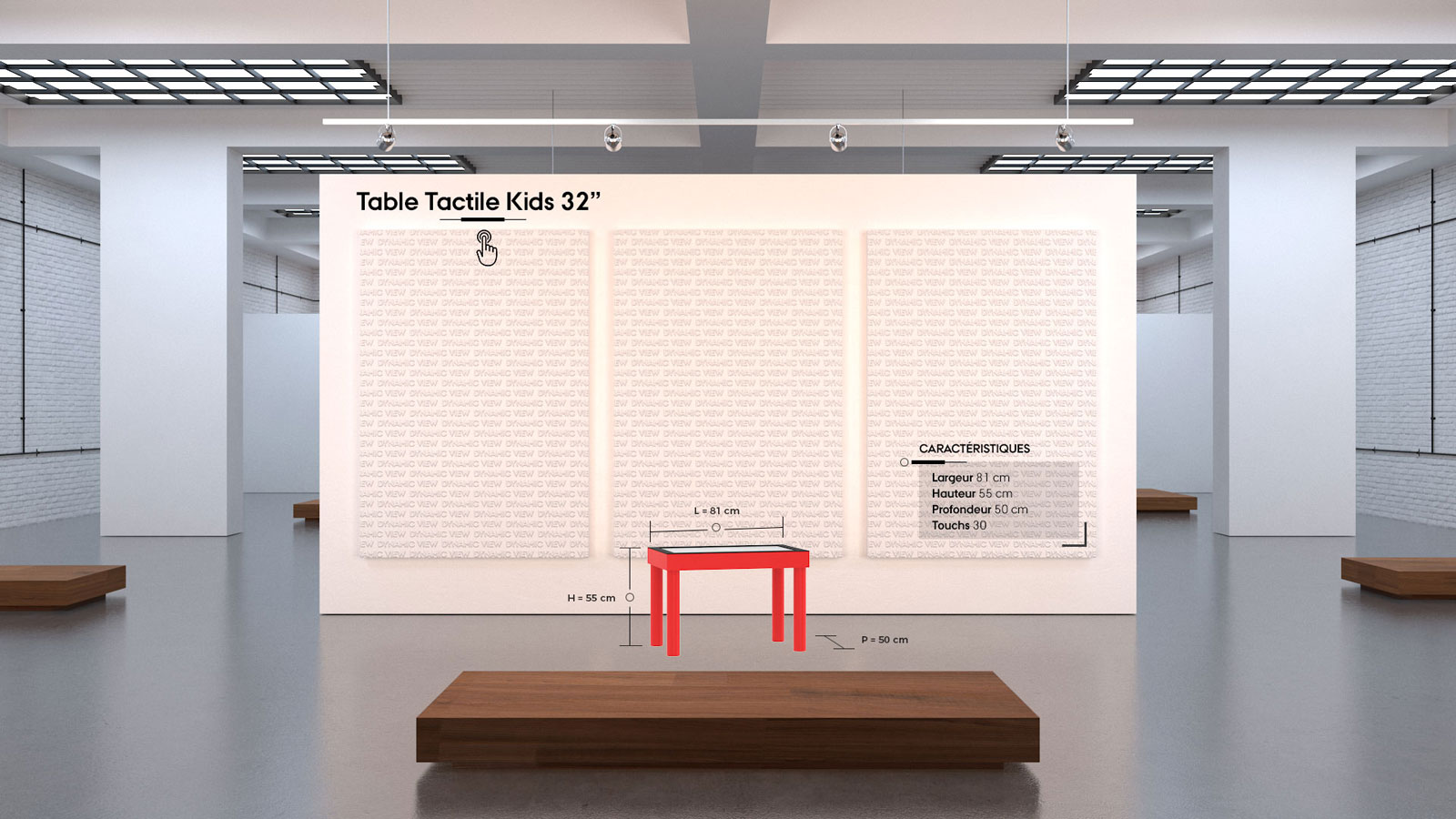 38 Table Tactile Kids 32''