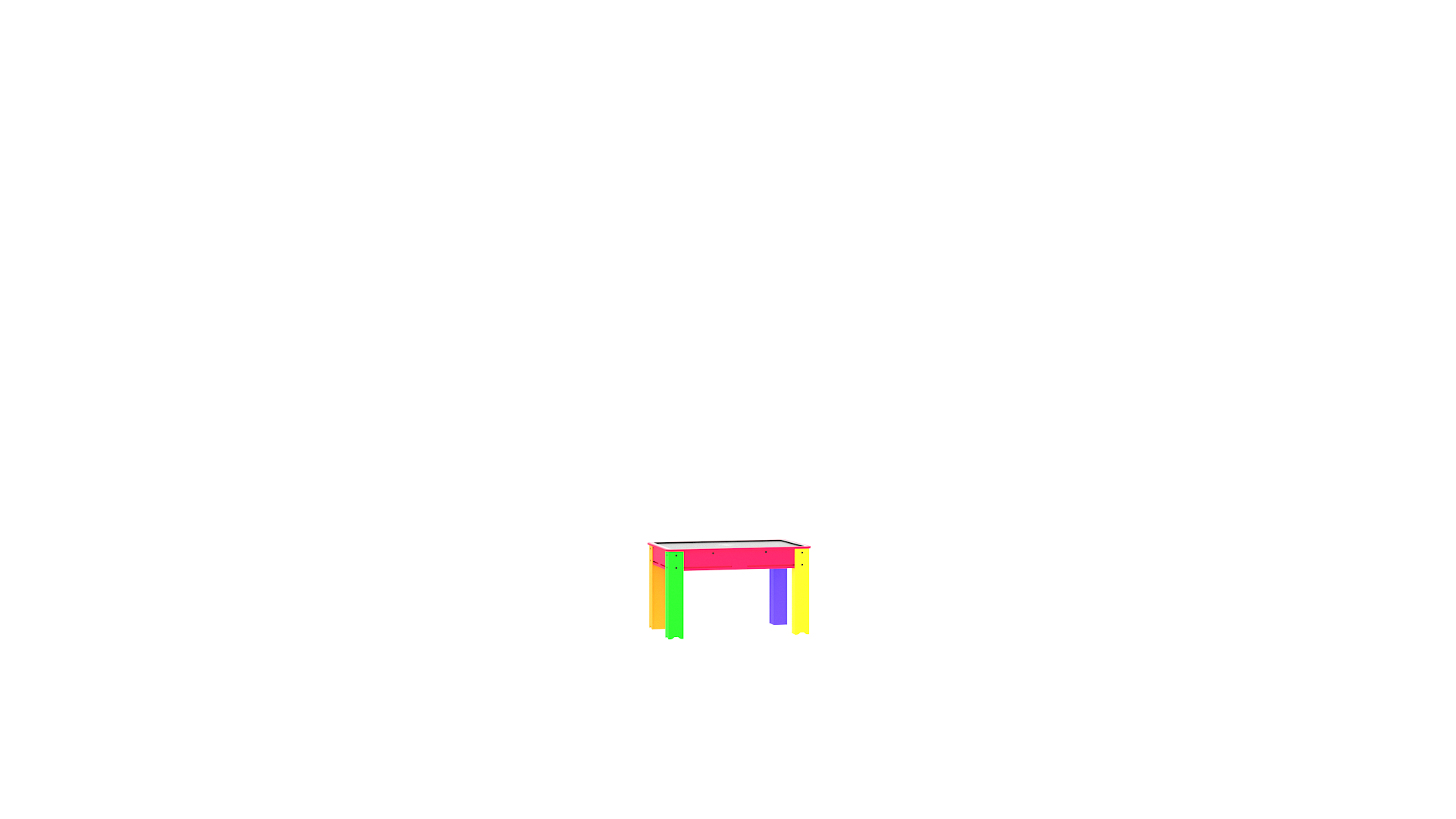 39 Table Tactile Kids 32'' Multi Color
