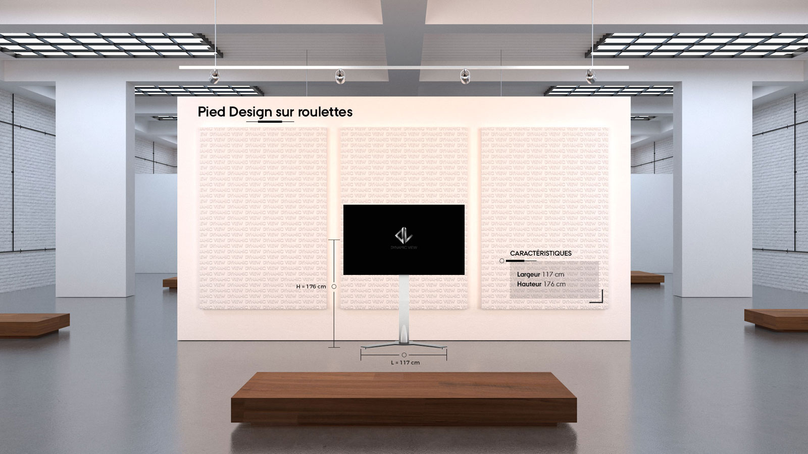 47 Pied Design sur roulettes
