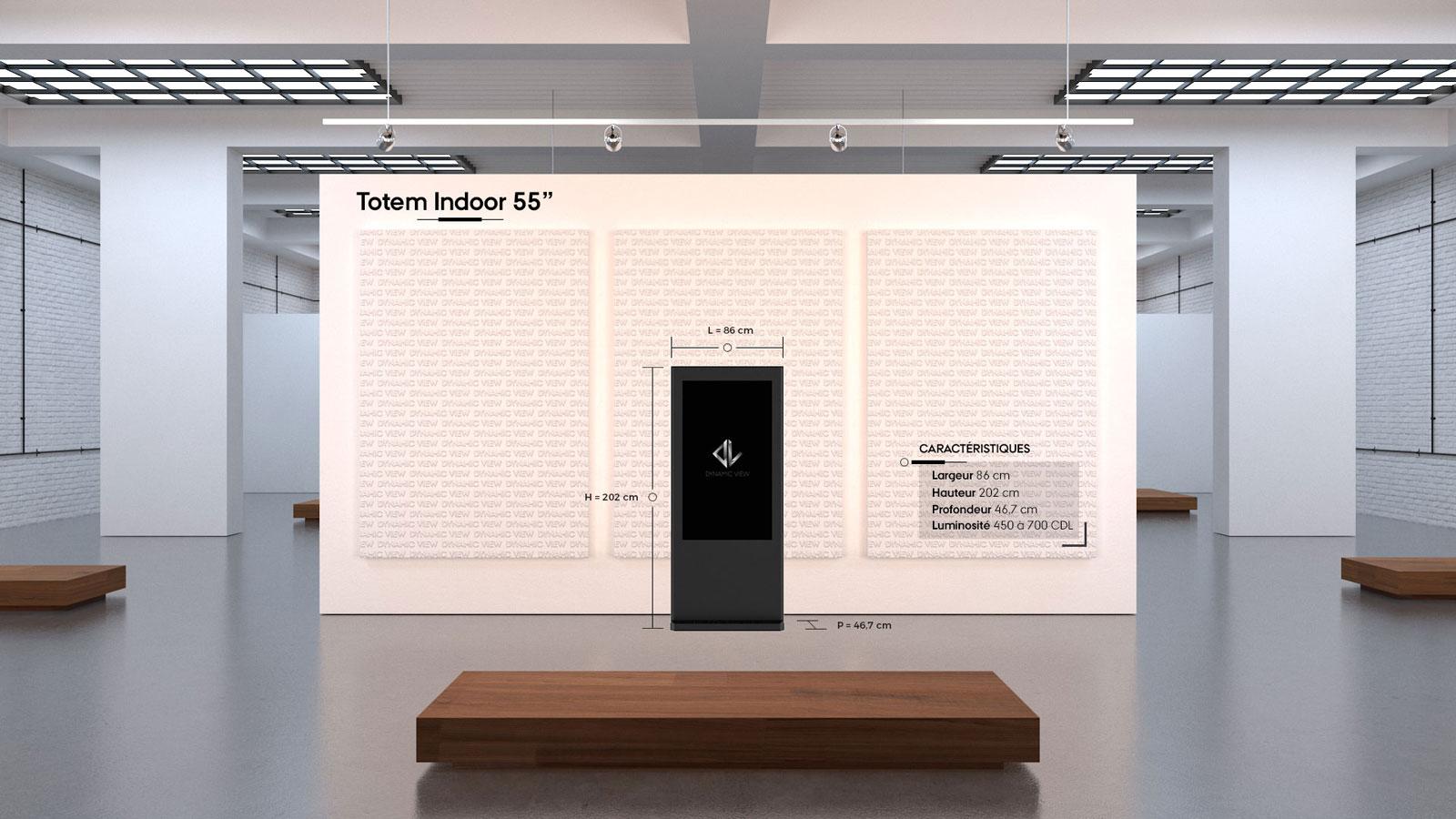 48 Totem Indoor 55''